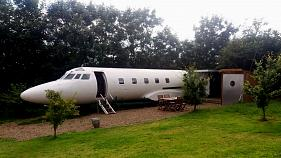 Stay in a repurposed private plane, yurt or spaceship
