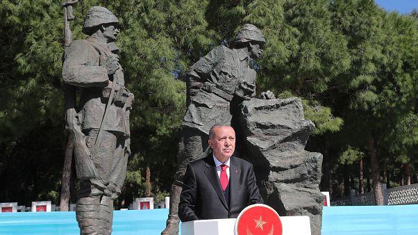 الرئيس التركي في جنق علقة احتفالاً بالذكرى 104 لحرب جنق علقة