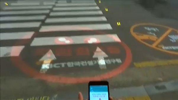 Okostelefonos átkelők Dél-Koreában