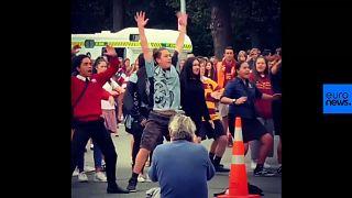 Watch: Christchurch high-school students perform haka at mosque vigil