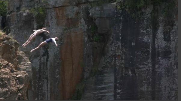 Plongeon extrême en Afrique du Sud