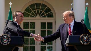 Trump et Bolsonaro affichent leur complicité à la Maison-Blanche