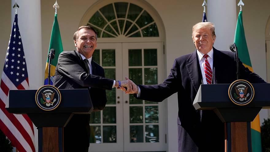 Trump e Bolsonaro na Casa Branca