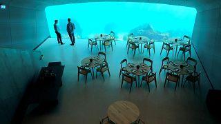 Первый в Европе ресторан под водой