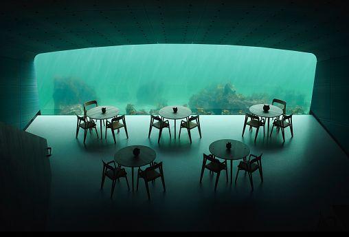 Europe's first underwater restaurant