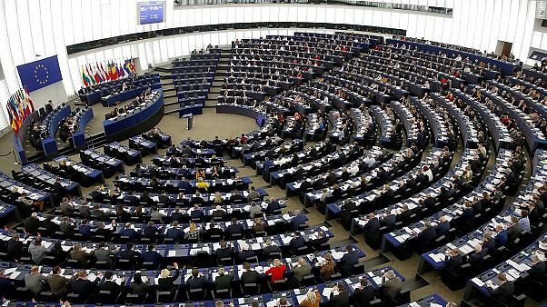 Members of the European Parliament in session in Strasbourg, France