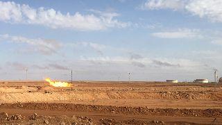 منظر عام لحقل لإنتاج الغاز في الجزائر