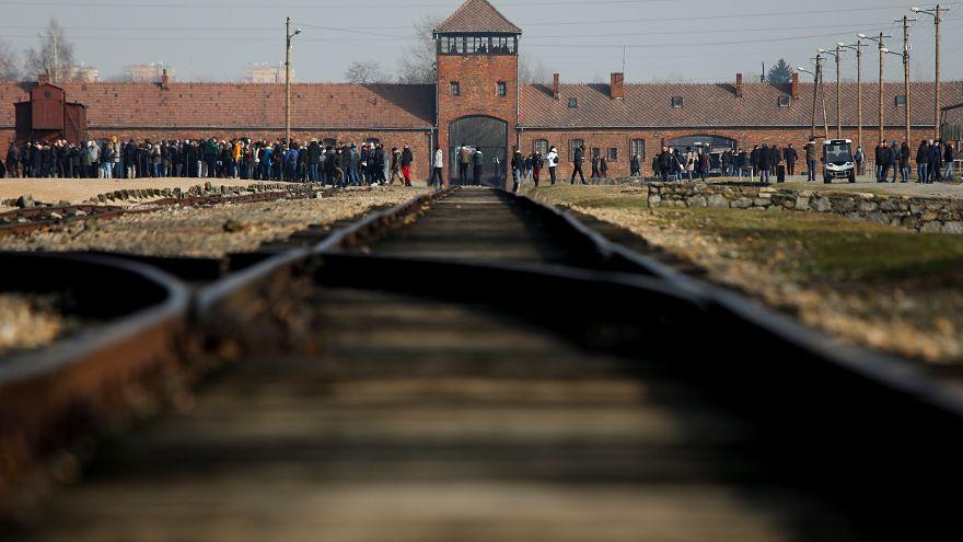 El antiguo campo de concentración Auschwitz II-Birkenau en Polonia.