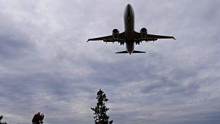 American Airlines'a ait Boeing 737 MAX 8 uçağı iniş yaparken