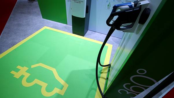 A charging station for electric cars, Geneva Motor Show, March 5, 2019.