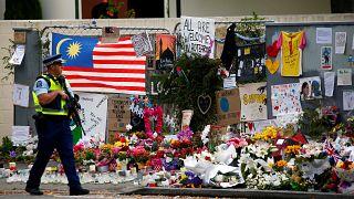 موقع تذكاري مؤقت لضحايا هجمات المسجدين في كرايستشيرش