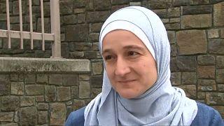 السيدة سلوى مصطفى، لاجئة سورية فقدت ابنها وزوجها في مذبحة المسجدين