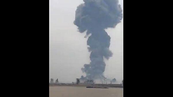 انفجار قوی در یک کارخانه تولید مواد شیمیایی در شرق چین
