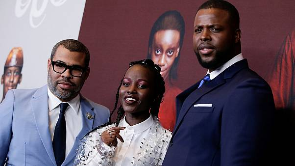 "Director Peele, and actors Nyong'o and Duke attend the ""Us"" premiere"