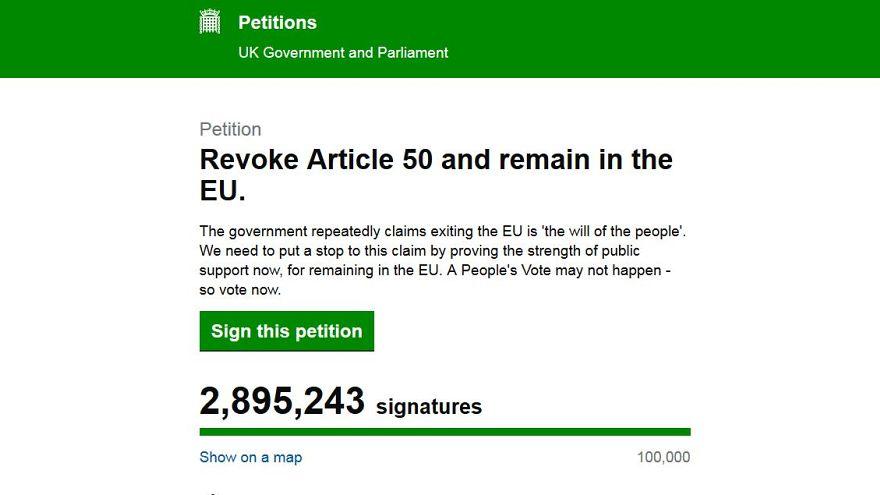 Brexit'in iptali için 3 milyona yakın imza toplandı, May geri adım atmak istemiyor
