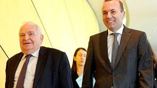 Joseph Daul az EPP elnöke és Manfred Weber az EPP csúcsjelöltje