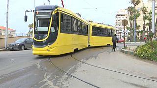عربات ترام الإسكندرية الجديد - صورة من الفيديو