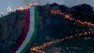 خلال احتفال أكراد العراق بعيد النوروز
