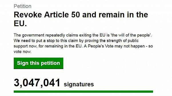 Brexit: Petition to remain in the EU hits 3 million signatures