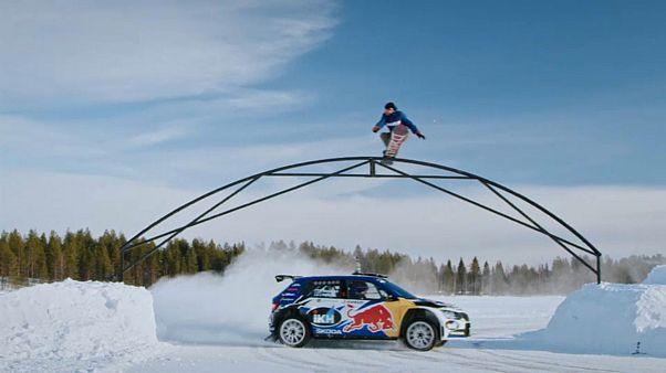 Ралли + сноуборд = балет