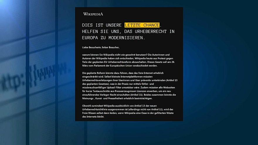 Germania: wikipedia oscurata per protesta