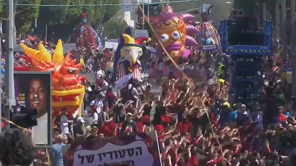 Карнавальное празднование Пурима в Израиле