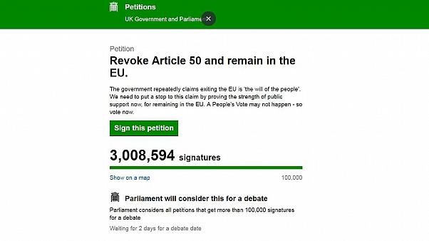Capture du site petition.parliament.uk le 22/03/19 à 13h10, heure de Paris