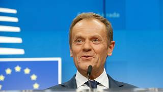 Britain's time in Europe is running out but there's still room in hell, jokes Tusk