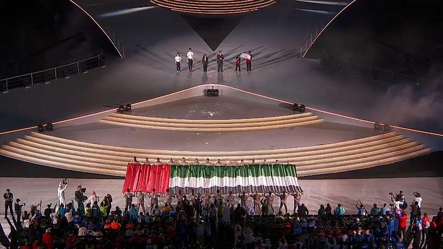 من حفل اختتام ألعاب الأولمبياد الخاص في أبوظبي