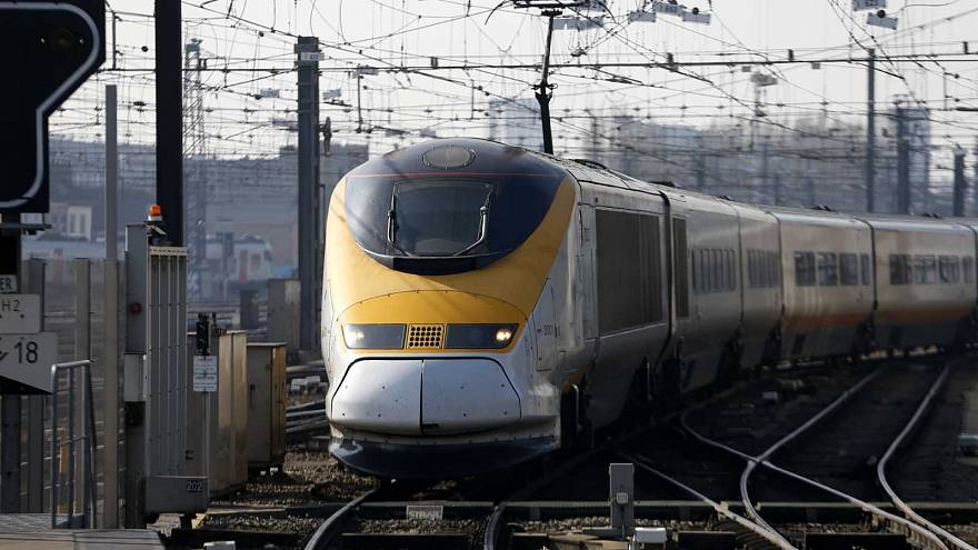 Un Eurostar arrivante en gare de Bruxelles Midi, le 15 mars 2016