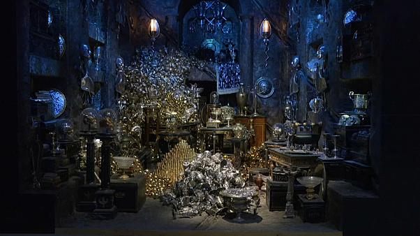 Visitors can pose for pictures surrounded by wizard treasure