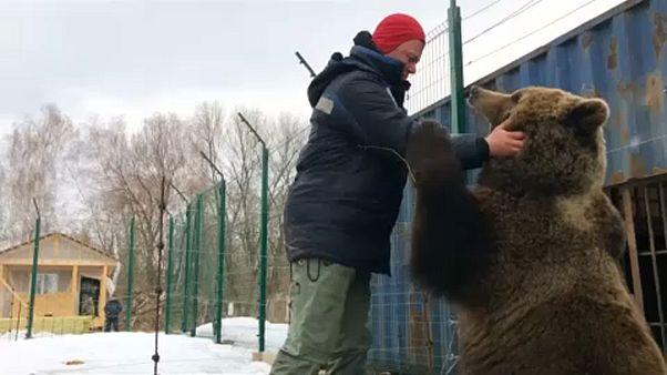 Russian pilot has a pet not everyone can bear