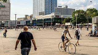 A general view of Berlin's Alexanderplatz, where the fight took place.