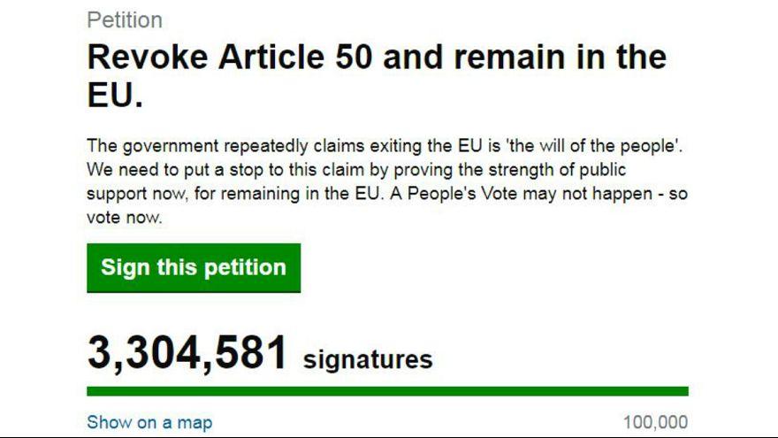 بریتانیا؛ درخواستی در مخالفت با برکسیت که طی ۴۸ ساعت میلیون ها امضا جمع کرد