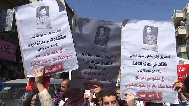 مسيرات في الأردن احتجاجا على اتفاق للغاز بقيمة عشرة مليارات دولار مع إسرائيل