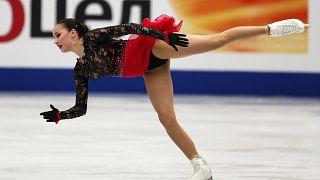 Η Ζαγκίτοβα παγκόσμια πρωταθλήτρια στο καλλιτεχνικό πατινάζ.