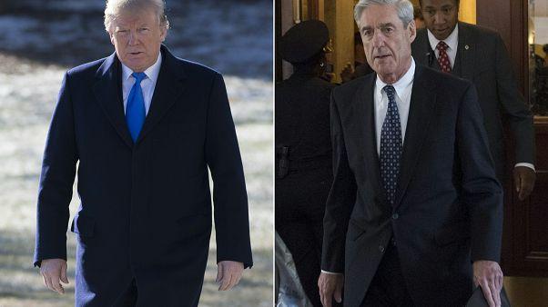 المحقق الأمريكي الخاص روبرت مولر والرئيس دونالد ترامب