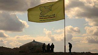 نیروهای دموکراتیک سوریه در روستای آزاد شدۀ باغوز