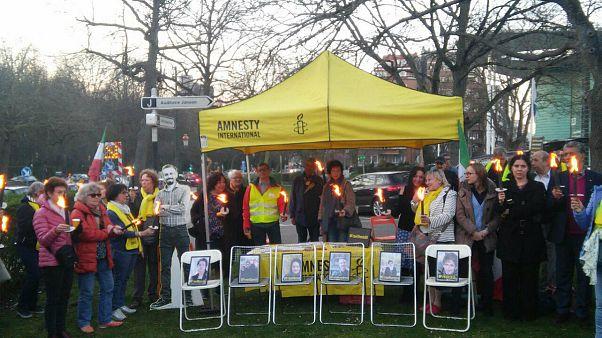 جشن نوروزی سازمان عفو بینالملل در بروکسل به یاد زندانیان سیاسی ایران