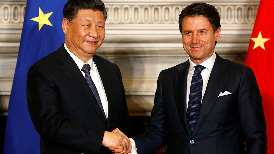 Çin Devlet Başkanı Şi Cimping ve İtalya Başbakanı Giuseppe Conte