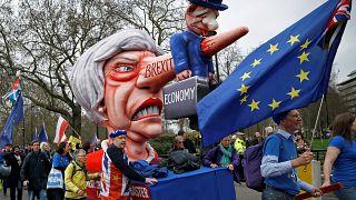 جانب من مظاهرات ضد خروج بريطانيا من الاتحاد الأوروبي