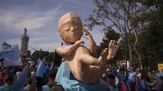 Argentina, in piazza contro l'aborto legale