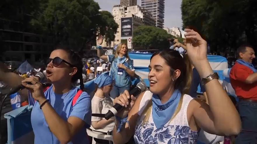 Anti-abortion activists rally in Argentina