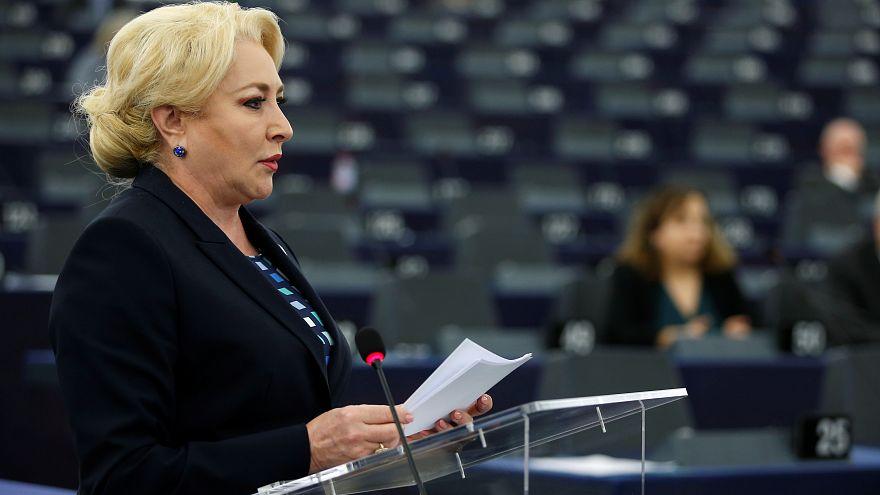 رئيسة وزراء رومانيا فيوريكا دانشيلا في البرلمان الأوروبي