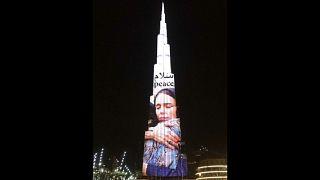 صورة جاسيندا أرديرن على واجهة برج خليفة