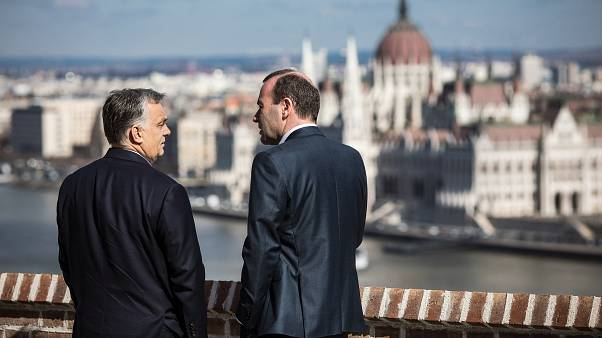 Fotó Manfred Weber március 12-ei budapesti látogatásáról