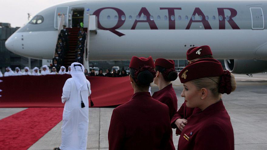 طائرة تابعة الخطوط الجوية القطرية