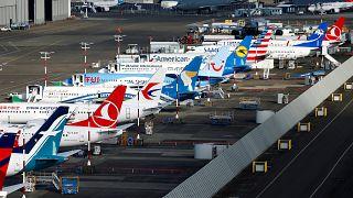 ABD'de park halindeki Boeing 737 MAX uçaklar