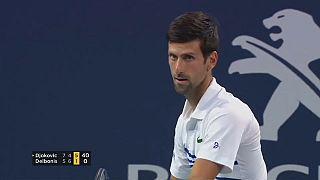 """Open de Miami : Djokovic a """"perdu sa concentration"""""""