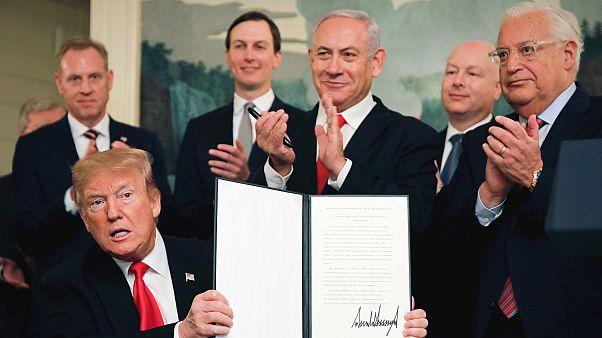Trump, Golan Tepelerini resmen İsrail toprağı olarak tanıdı